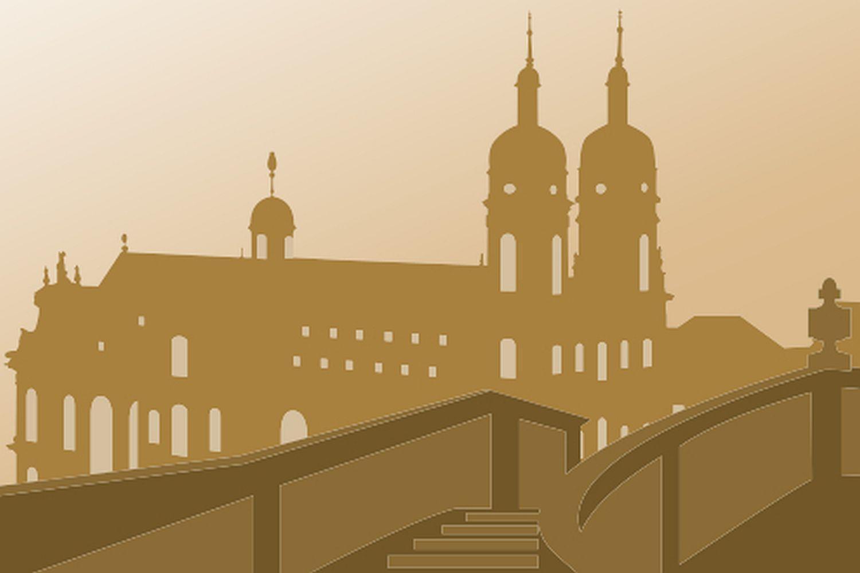 Symbol für Standardführungen in Kloster Schöntal; Illustration: Staatliche Schlösser und Gärten Baden-Württemberg, JUNG:Kommunikation GmbH