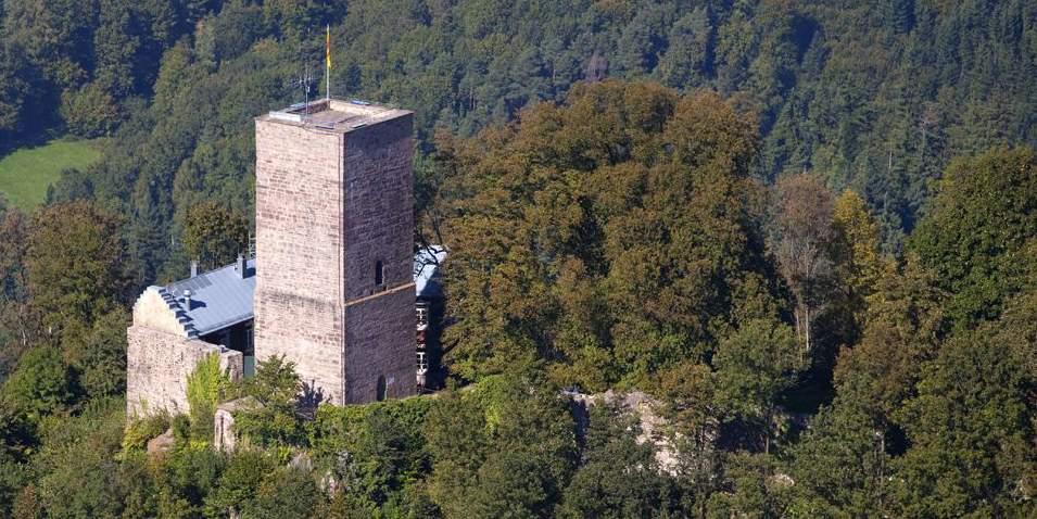 Burgruine Yburg;  Foto: Staatliche Schlösser und Gärten Baden-Württemberg, Achim Mende