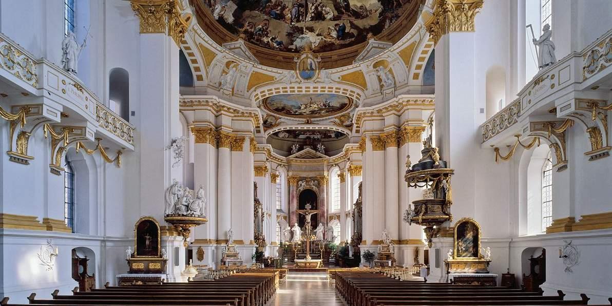 Innenansicht der Klosterkirche Wiblingen; Foto: Staatliche Schlösser und Gärten Baden-Württemberg, Steffen Hauswirth