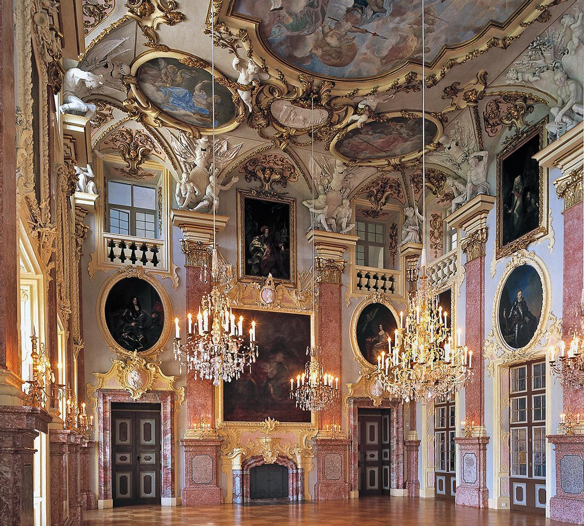 Der Ahnensaal in Residenzschloss Rastatt; Foto: Staatliche Schlösser und Gärten Baden-Württemberg, Steffen Hauswirth