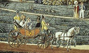 Mannheim: Ansicht von Schloss und Park, Ausschnitt aus einem Aquarell von J. P. Karg, 1819; Foto: Staatliche Schlösser und Gärten Baden-Württemberg, Andrea Rachele