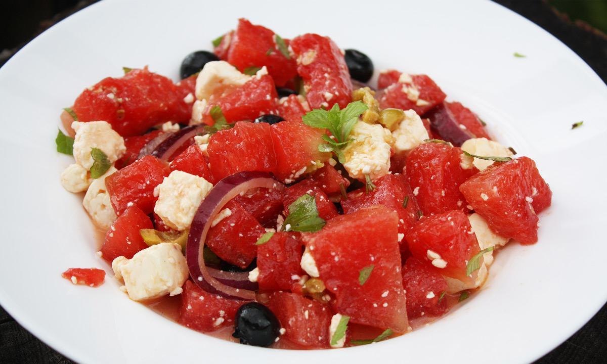 Wassermelonensalat; Foto: Staatsanzeiger für Baden-Württemberg GmbH & Co. KG, Carolyn Kolossa