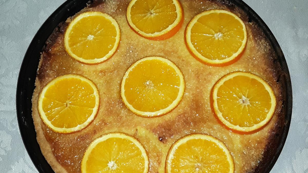 Fertige Orangentarte;  Foto: Staatsanzeiger für Baden-Württemberg, Frank Thomas Lang