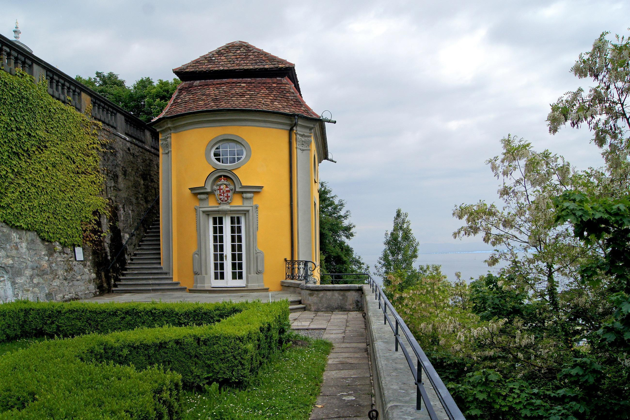 Das mit Lotto-Mitteln sanierte Teehäuschen des Neuen Schloss Meersburg; Foto: Vermögen und Bau Baden-Württemberg, Joachim Feist
