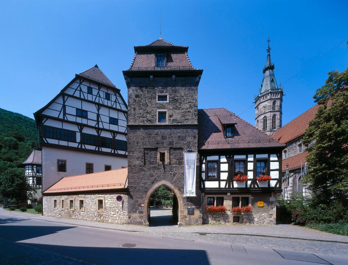 Außenansicht Residenzschloss Urach; Foto: Staatliche Schlösser und Gärten Baden-Württemberg, Urheber unbekannt