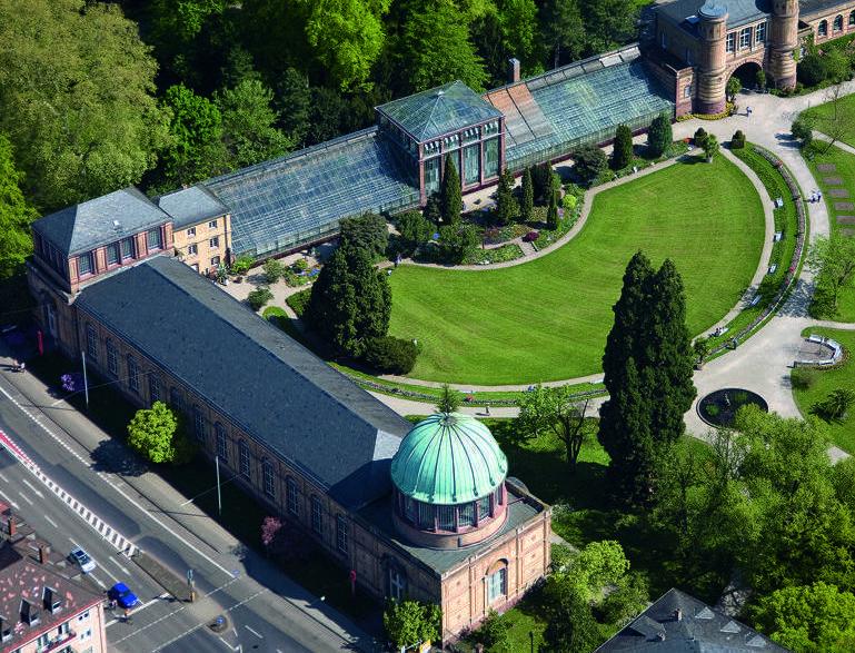Orangerie im Botanischen Garten Karlsruhe; Foto: Staatliche Schlösser und Gärten Baden-Württemberg, Achim Mende