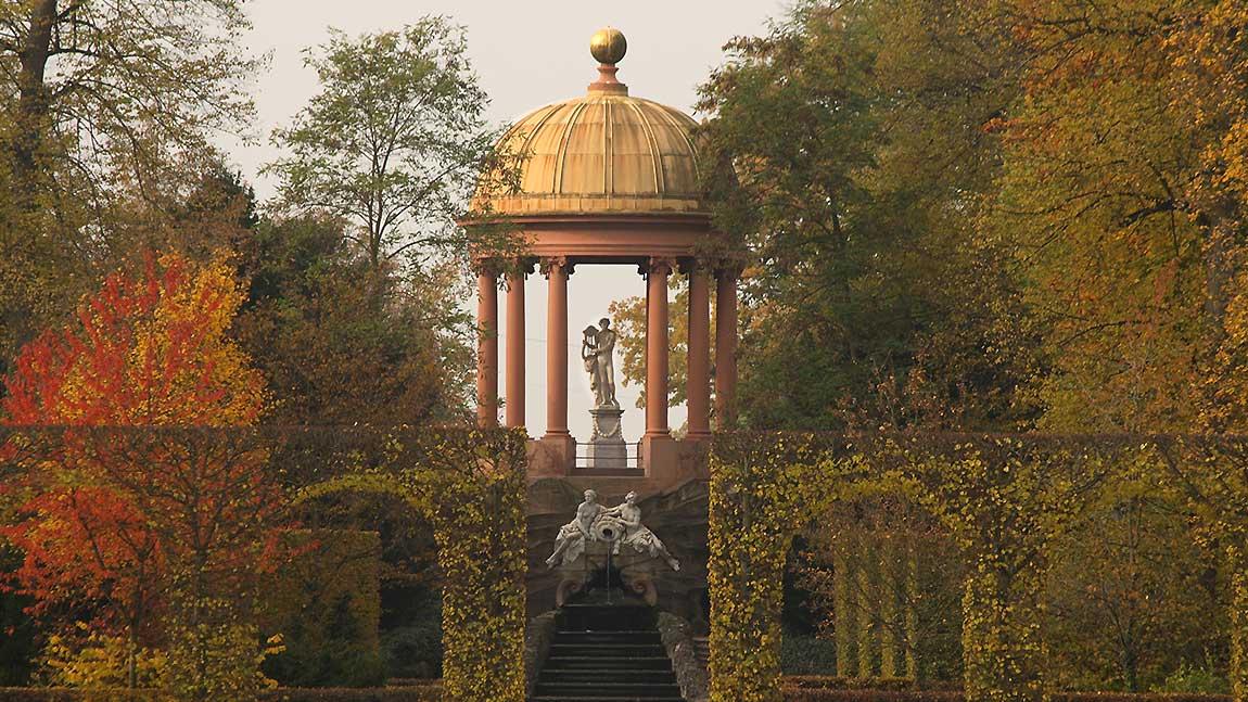 Apollotempel im Schlossgarten Schwetzingen; Foto: Staatliche Schlösser und Gärten Baden-Württemberg, Ursula Wetzel