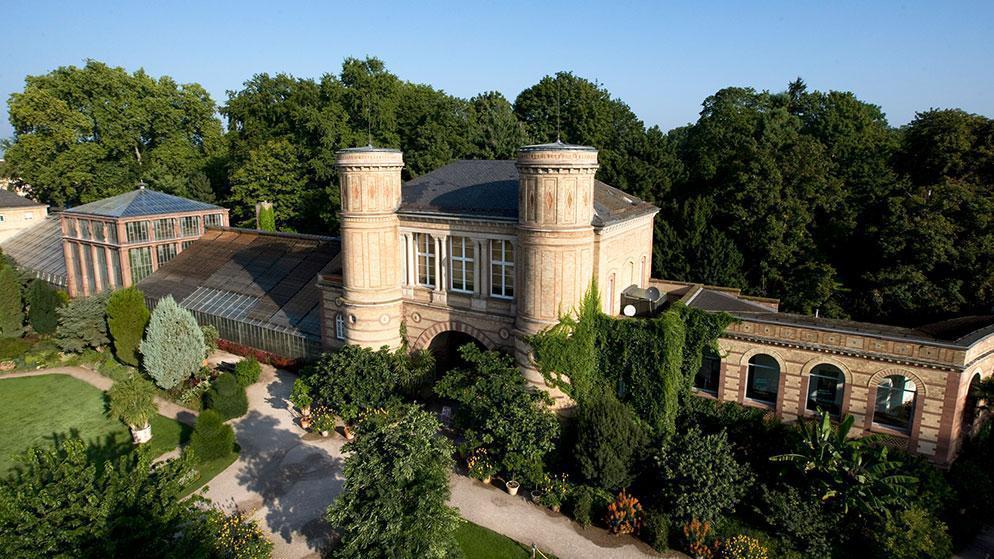 Botanischer Garten Karlsruhe im Sommer;  Foto: Staatliche Schlösser und Gärten Baden-Württemberg, Achim Mende