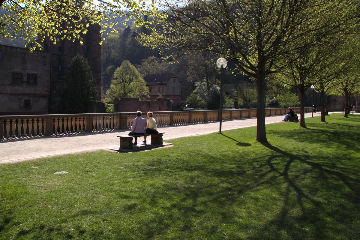 Stückgarten von Schloss Heidelberg; Foto: Staatliche Schlösser und Gärten Baden-Württemberg, Ursula Wetzel