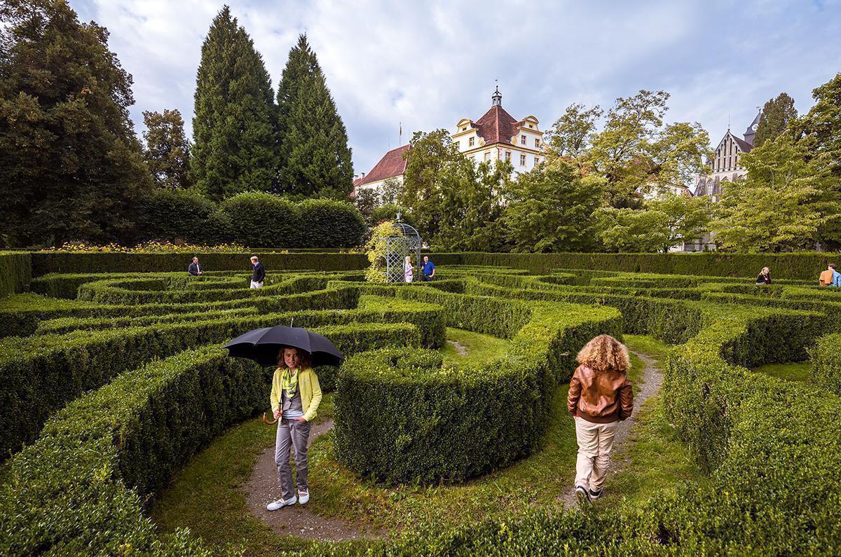 Barockgarten von Kloster und Schloss Salem; Foto: Bodenseegärten