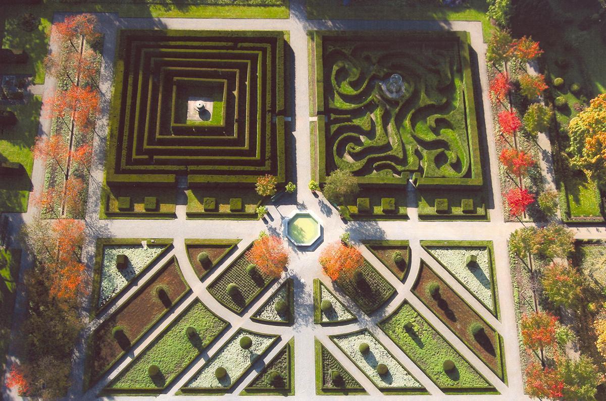 Barockgarten von Kloster und Schloss Salem; Foto: Staatliche Schlösser und Gärten Baden-Württemberg, Achim Mende