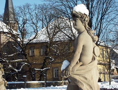 Schloss und Schlossgarten Weikersheim; Foto: Staatliche Schlösser und Gärten Baden-Württemberg, Monika Menth