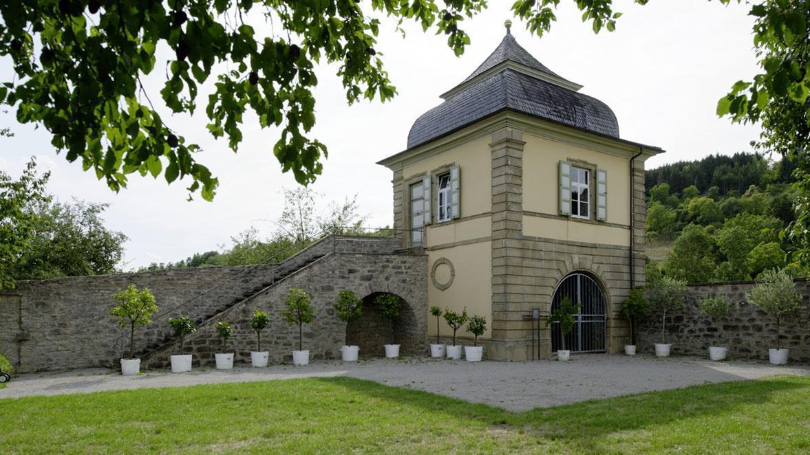 Teehaus im Schlossgarten Weikersheim;  Foto: Staatliche Schlösser und Gärten Baden-Württemberg, Niels Schubert