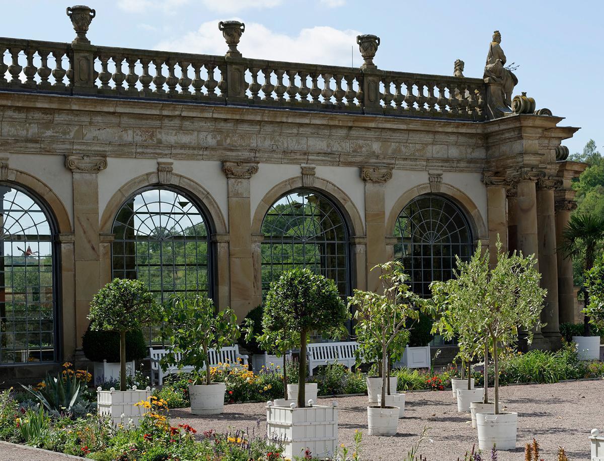 Orangerie im Schlossgarten Weikersheim;  Foto: Staatliche Schlösser und Gärten Baden-Württemberg, Niels Schubert