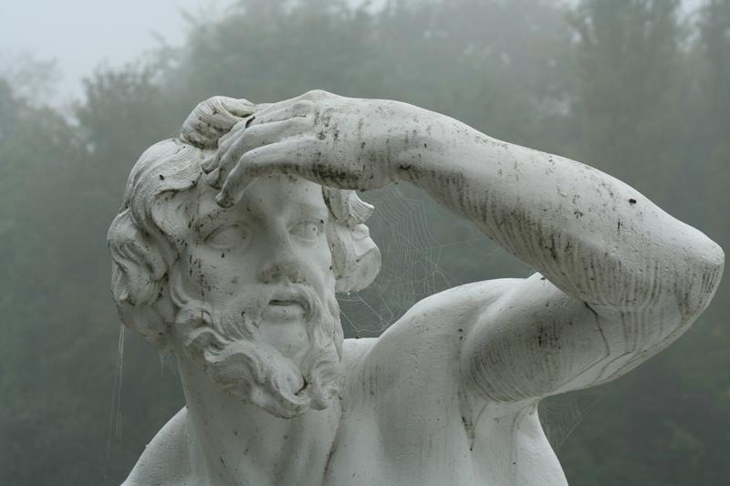 Figur des Flussgottes Donau, von Peter Anton von Verschaffelt, Schlossgarten Schwetzingen