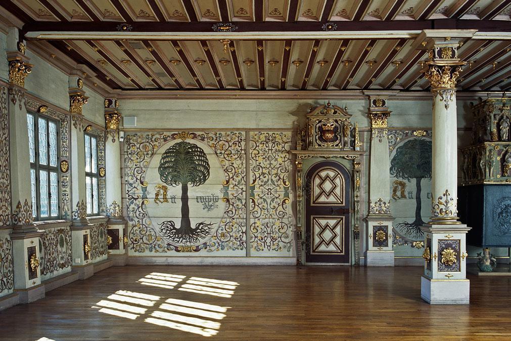 Goldener Saal im Residenzschloss Urach; Foto: Staatliche Schlösser und Gärten Baden-Württemberg, Tom Philippi