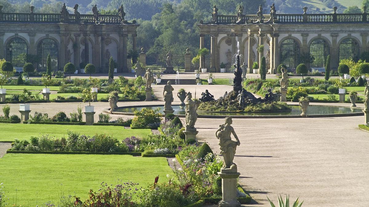 Orangerie im Schlossgarten Weikersheim; Foto: Staatliche Schlösser und Gärten Baden-Württemberg, Arnim Weischer