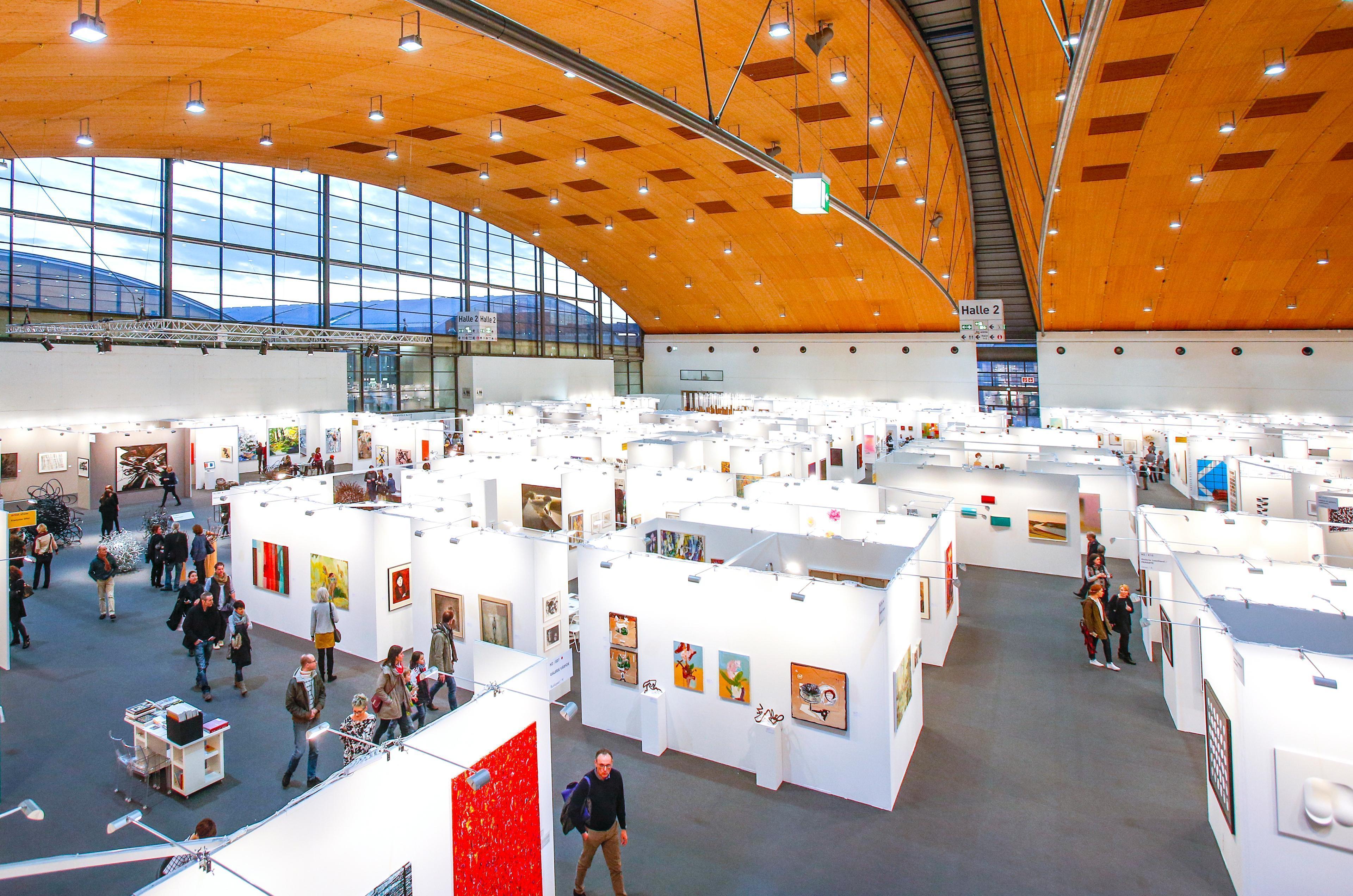 Messe Karlsruhe Halle 2, art KARLSRUHE 2017; Foto: Karlsruher Messe- und Kongress GmbH, Jürgen Rösner