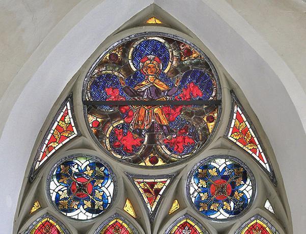 Detail des Chorfensters in der Klosterkirche St. Anna des Klosters Heiligkreuztal; Foto: Staatliche Schlösser und Gärten Baden-Württemberg, Markus Schwerer