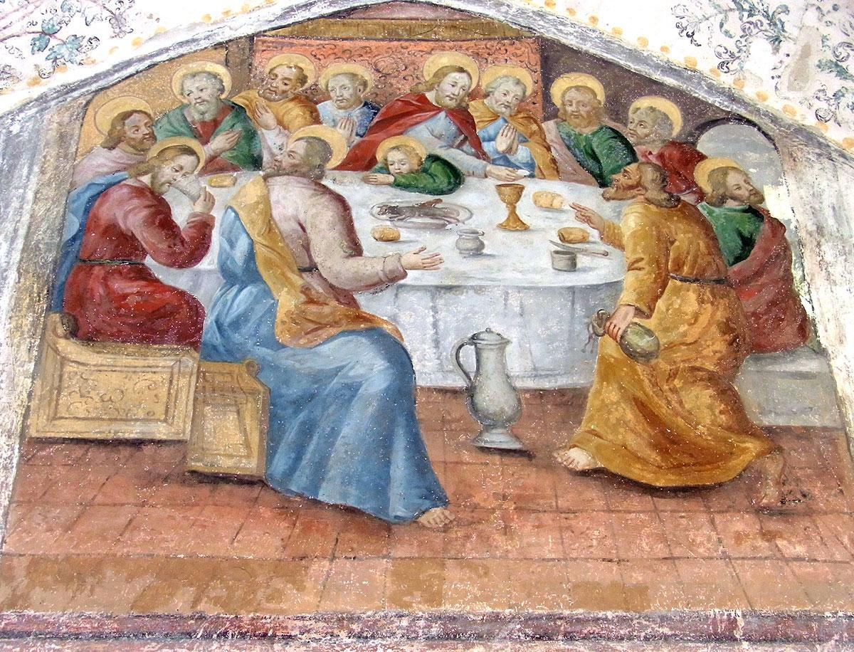 Fresko im Kreuzgang vom Meister von Meßkirch; Foto: Wikipedia, gemeinfrei, Rainer Halama