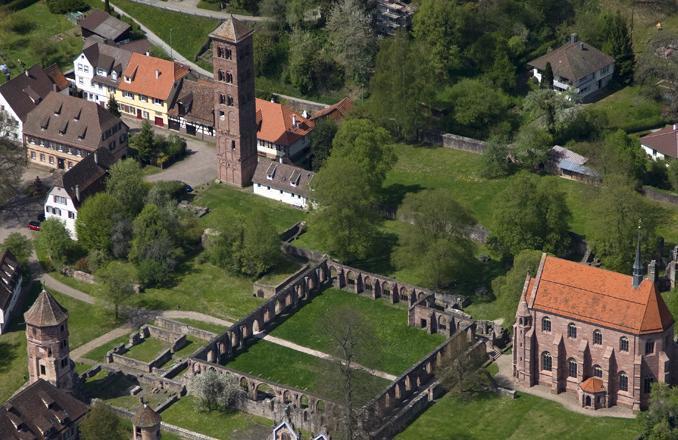 Kloster Hirsau aus der Luft; Foto: Staatliche Schlösser und Gärten Baden-Württemberg, Achim Mende