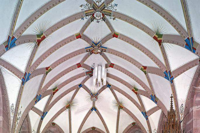 Gewölbe der Marienkapelle von Kloster Hirsau; Foto: Staatliche Schlösser und Gärten Baden-Württemberg, Andrea Rachele