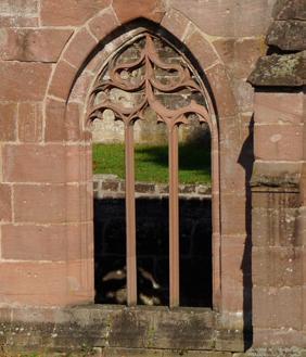 Fenster im Kreuzgang von Kloster Hirsau; Foto: Stadtinformation Calw