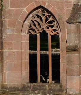 Gotisches Fenster des einstigen Kreuzgangs von Kloster Hirsau; Foto: Stadtinformation Calw