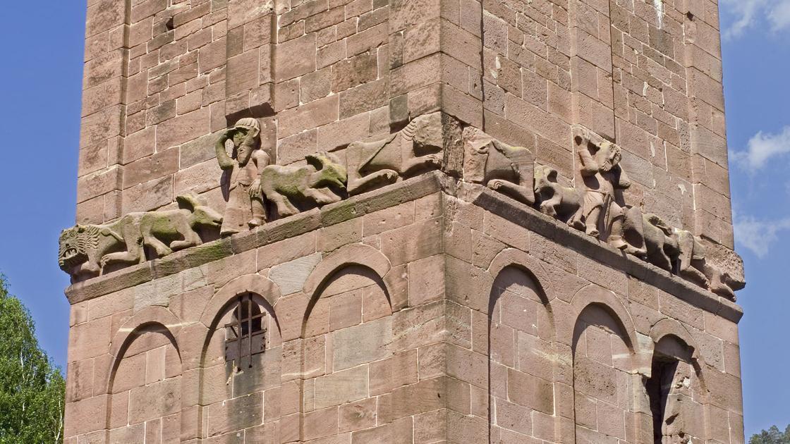 Detail vom Westfries am Eulenturm von Kloster Hirsau; Foto: Stadtinformation Calw
