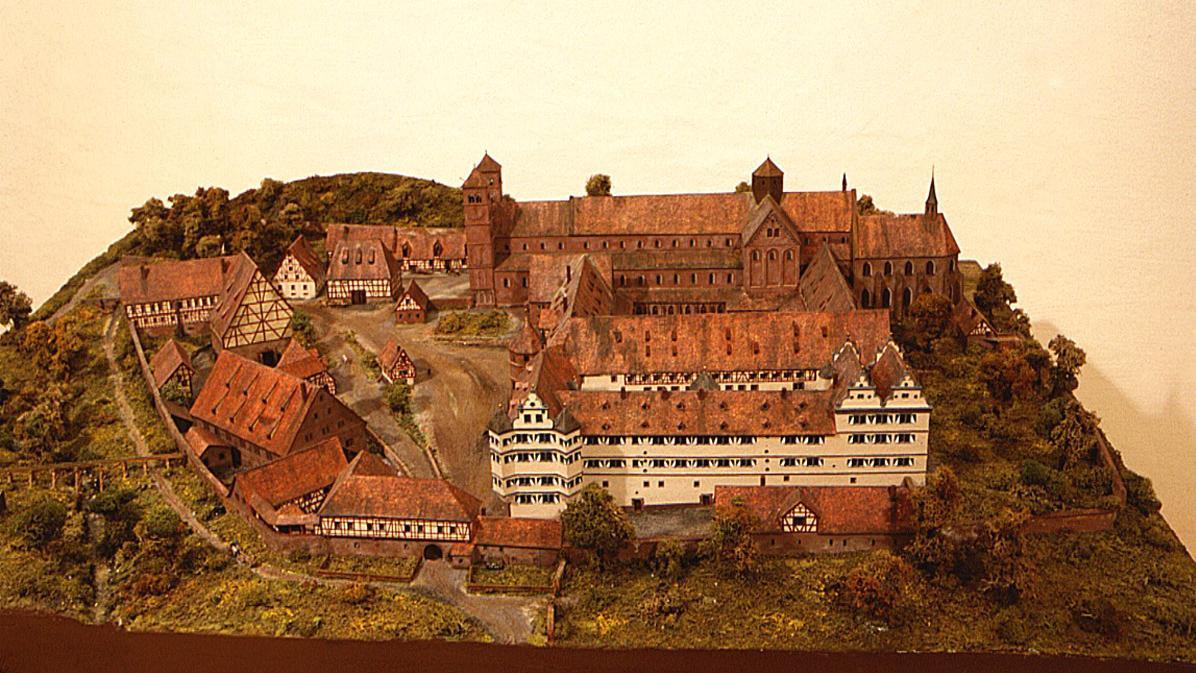 Modell von Kloster Hirsau vor der Zerstörung 1692; Foto: Landesmedienzentrum Baden-Württemberg, Andrea Rachele