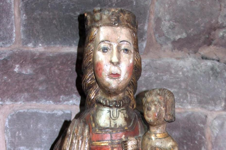 Busts of mother and child, detail of the Andalusian Madonna at Hirsau Monastery. Image: Stephan Kohls