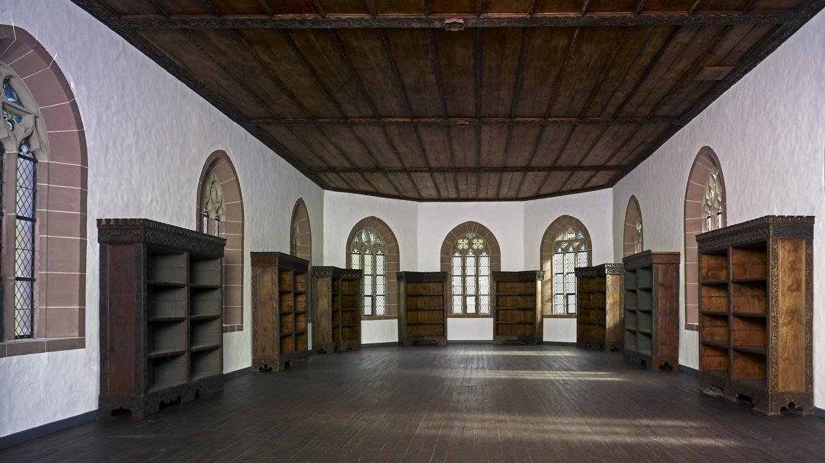 Der ehemalige Bibliothekssaal im Obergeschoss der Marienkapelle von Kloster Hirsau; Foto: Schlösser und Gärten Baden-Württemberg, Arnim Weischer