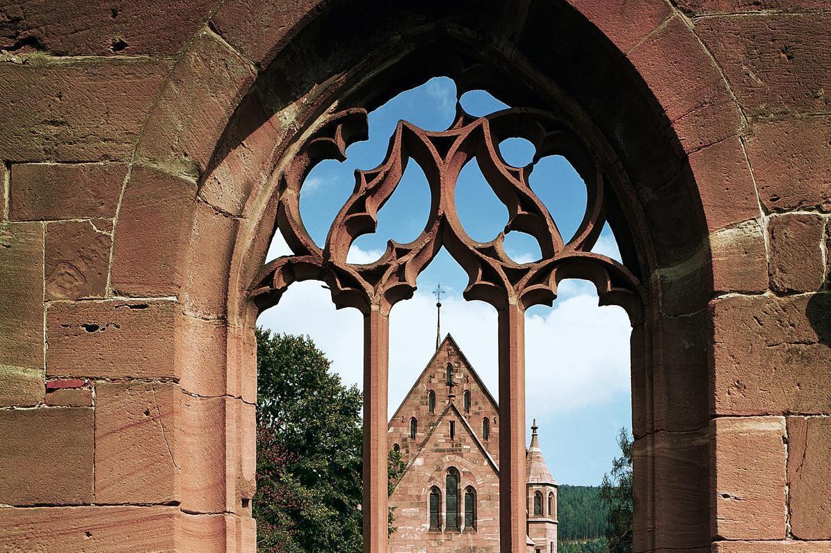 Monastère de Hirsau, fenêtre de la chapelle de la vierge; l'image: Landesmedienzentrum Baden-Württemberg, Dieter Geissle