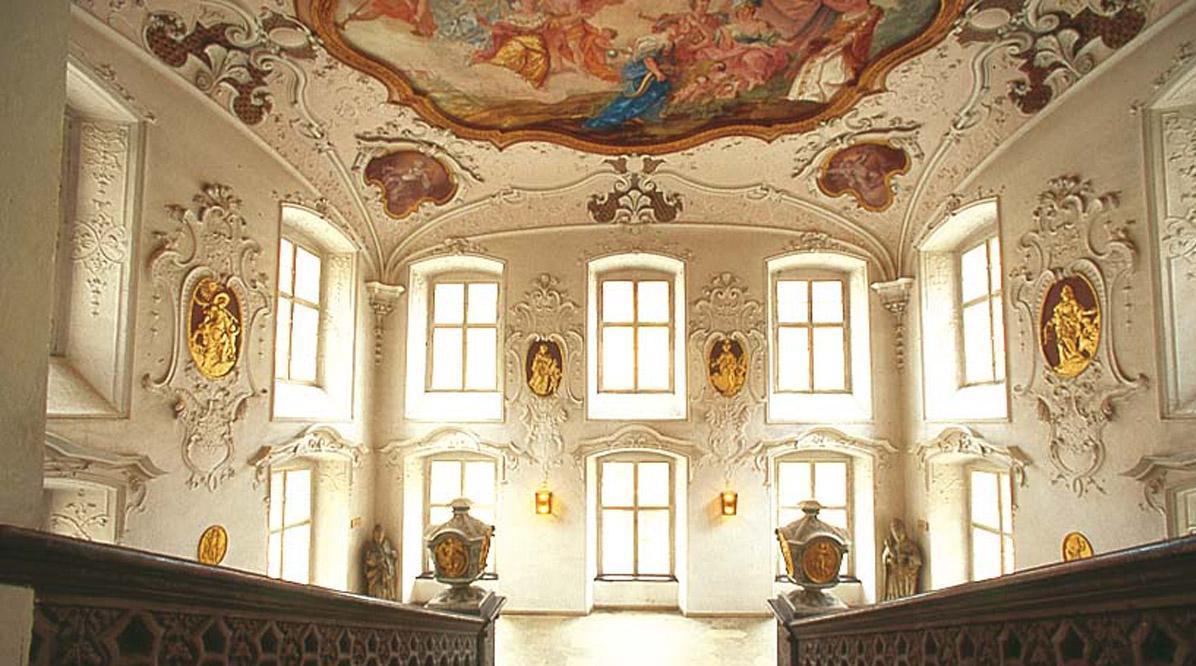 Treppenhaus von Schloss ob Ellwangen; Foto: Tourist-Information Ellwangen