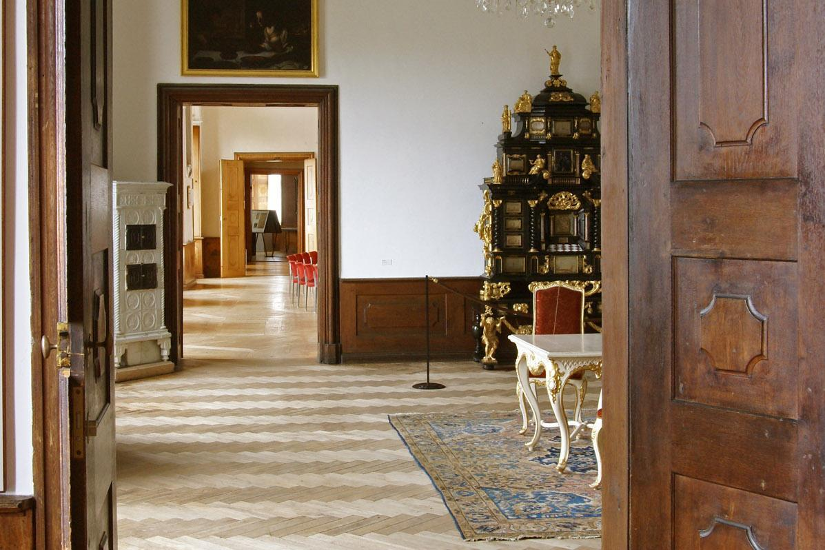 Enfilade in Schloss ob Ellwangen; Foto: Tourist-Information Ellwangen