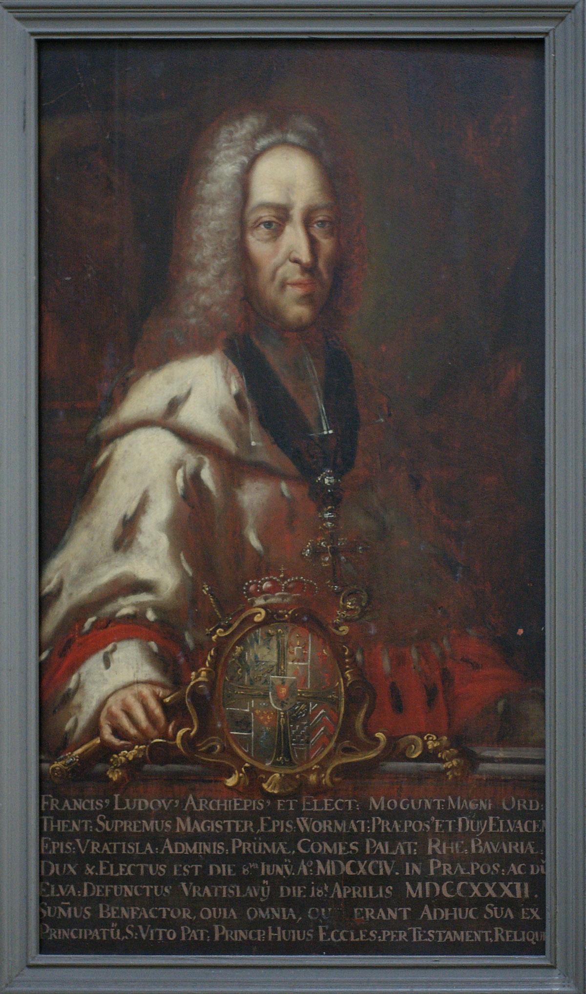 Bildnis Fürstpropst Franz-Ludwig von Pfalz-Neuburg; Foto: Tourist-Information Ellwangen