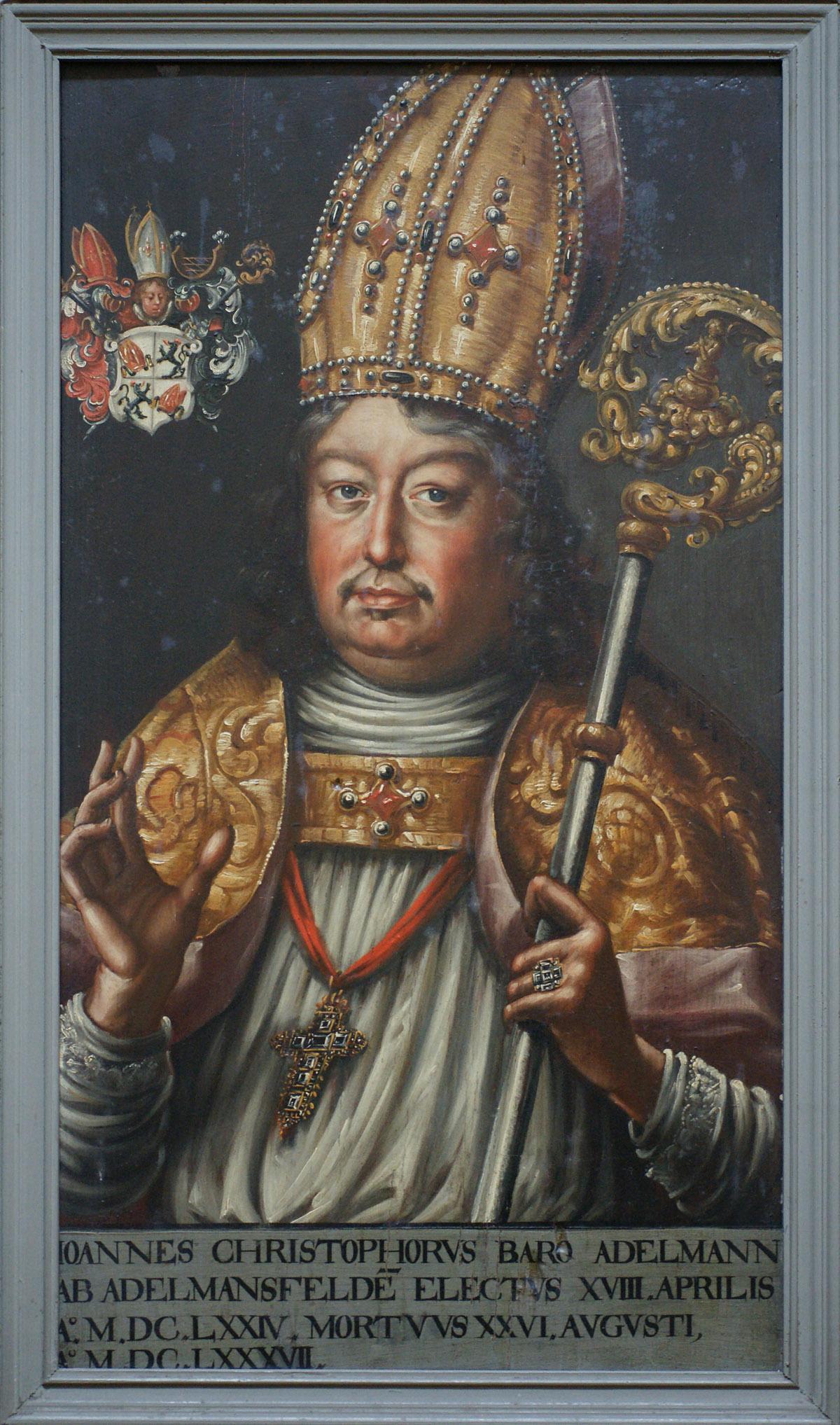 Bildnis Fürstpropst Johann Christoph Adelmann von Adelmannsfelden; Foto: Tourist-Information Ellwangen