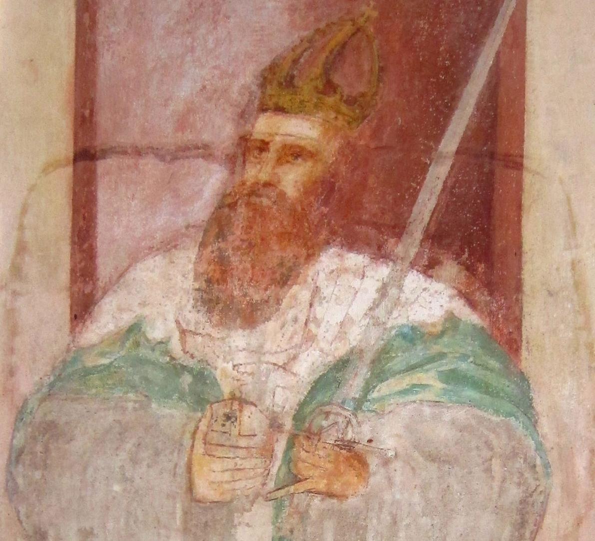 Kaiser Friedrich Barbarossa, Wandbild in der Lorcher Klosterkirche; Foto: Ulrich Rund