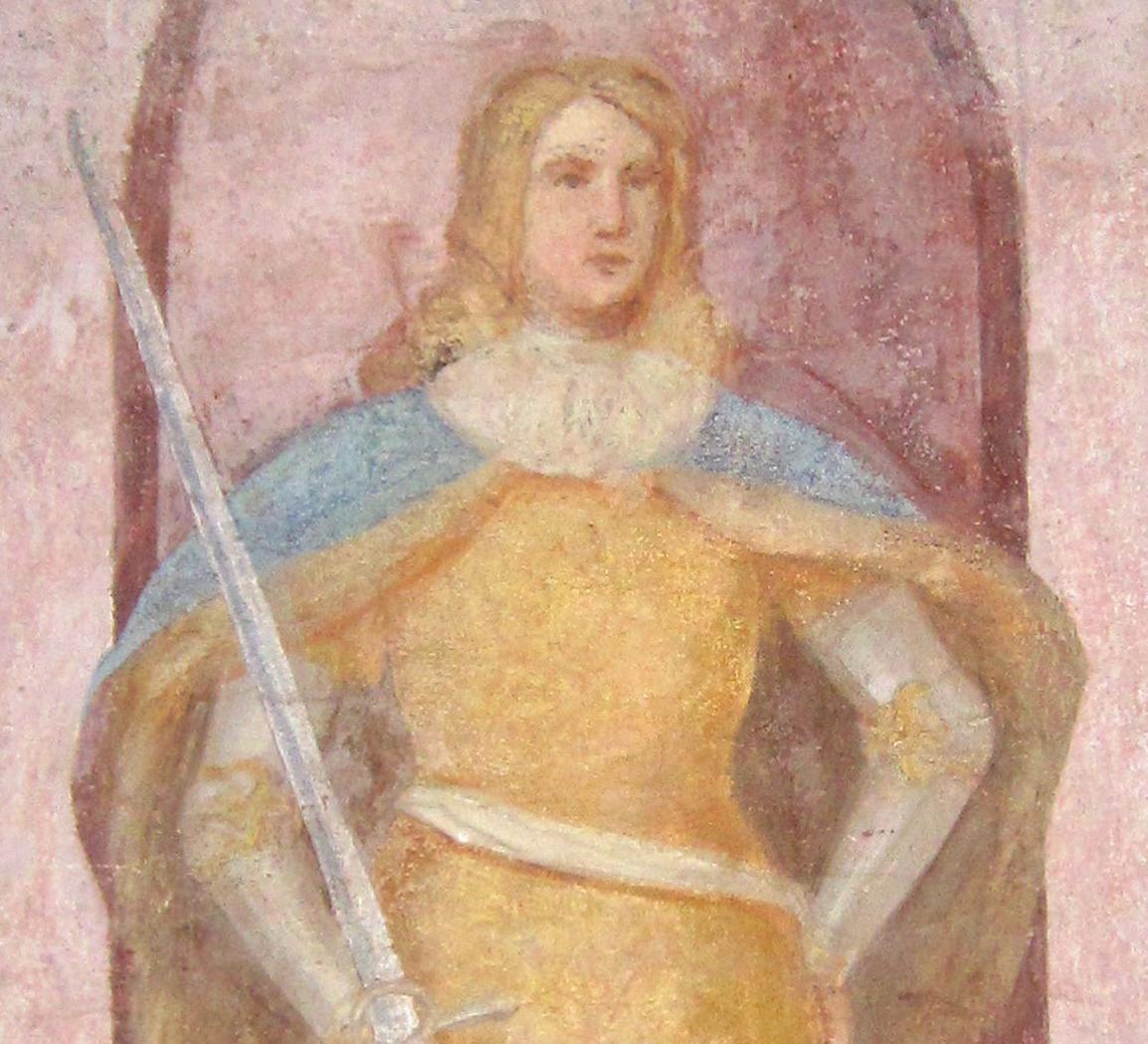 Konradin, der letzte Staufer, Wandbild in der Lorcher Klosterkirche; Foto: Ulrich Rund