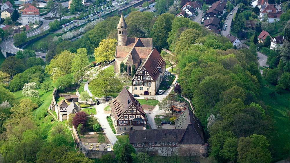 Aussenansicht des Klosters; Foto: Staatliche Schlösser und Gärten Baden-Württemberg, Achim Mende