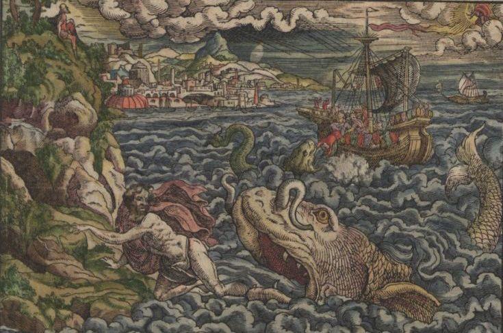 Illustrationen aus der württembergischen Lutherbibel; Foto: Landeskirchliches Archiv Stuttgart