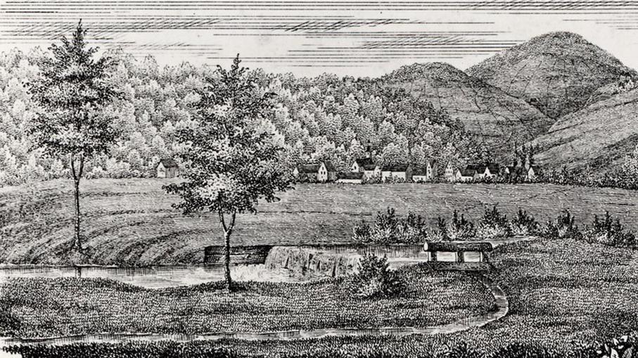 Hausen im Wiesental, Stahlstich, frühes 19.Jahrhundert; Scan: Landesmedienzentrum Baden-Württemberg