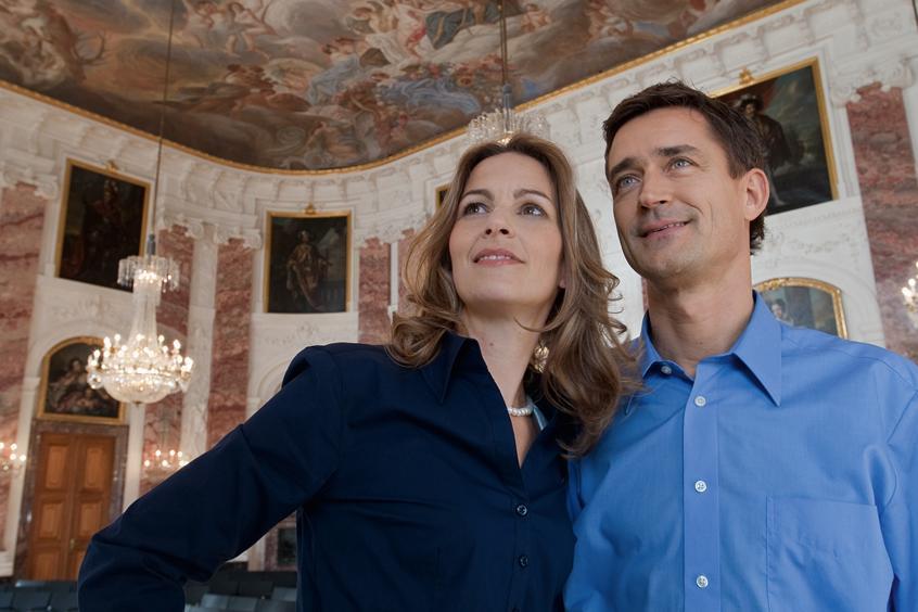 Besucher in Schloss Mannheim; Foto: Staatliche Schlösser und Gärten Baden-Württemberg, Niels Schubert