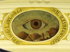 """The Eye of God"" ceiling painting, Schöntal Monastery. Image: Foto Besserer"