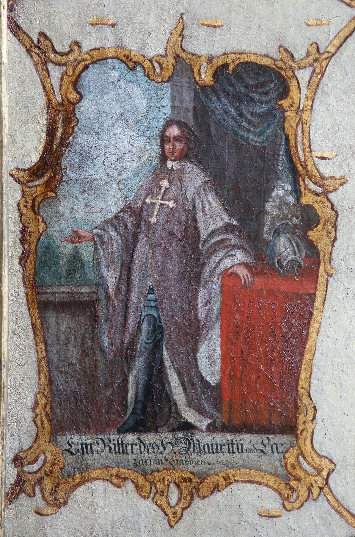 Detailansicht Gemälde im Ordenssaal von Kloster Schöntal; Foto: Foto Besserer