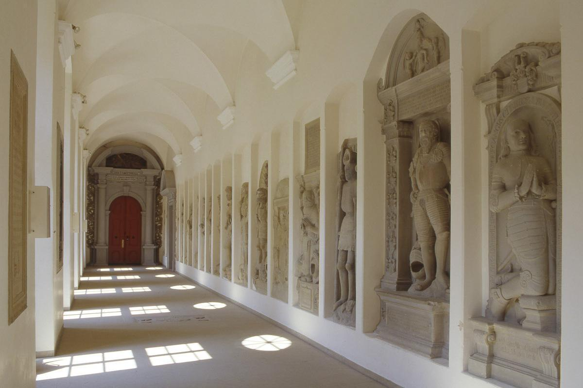 The cloister at Schöntal Monastery. Image: Foto Besserer