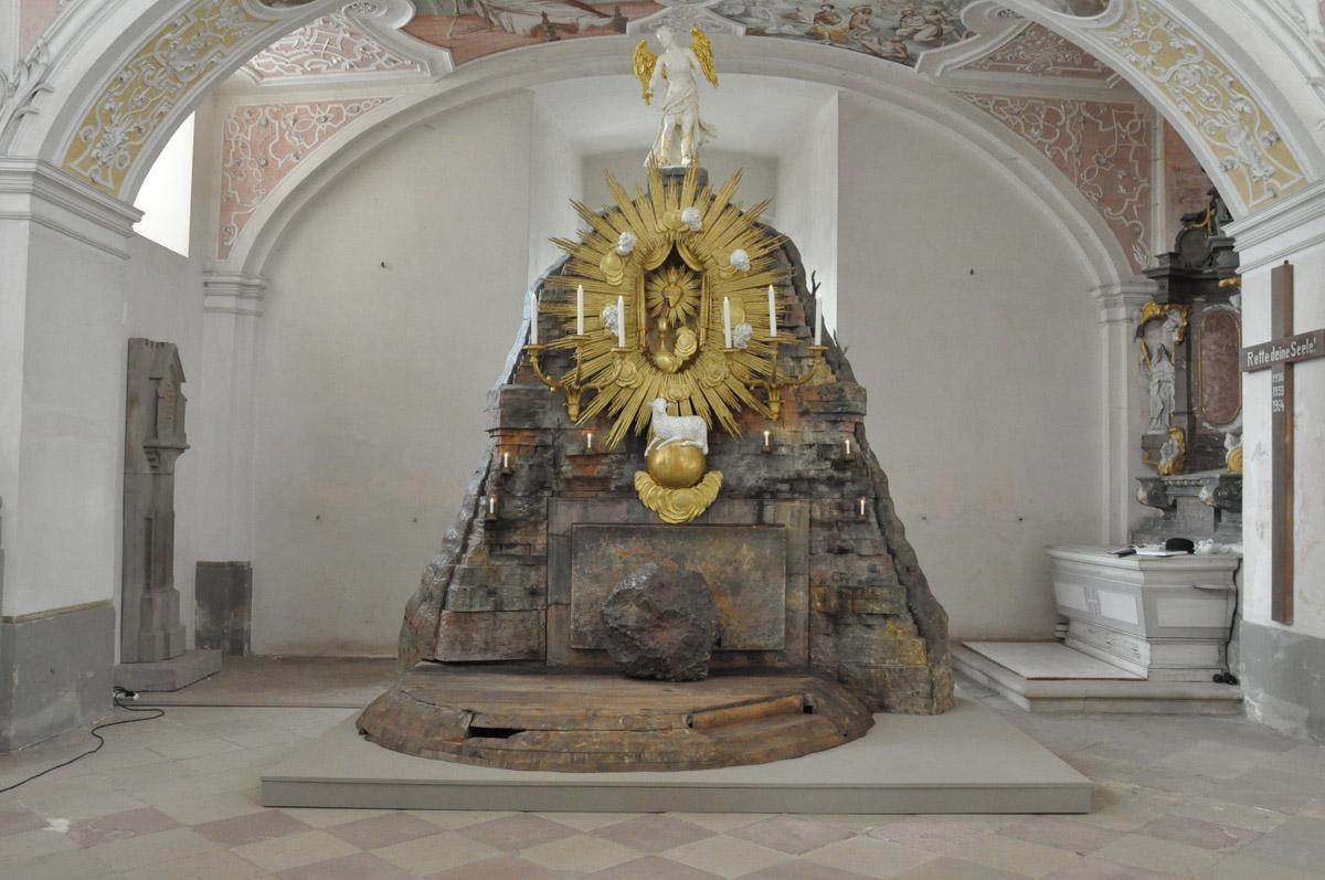 Das Heilige Grab am Karsamstag im Kloster Schöntal; Foto: Staatliche Schlösser und Gärten Baden-Württemberg, Felix Muhle