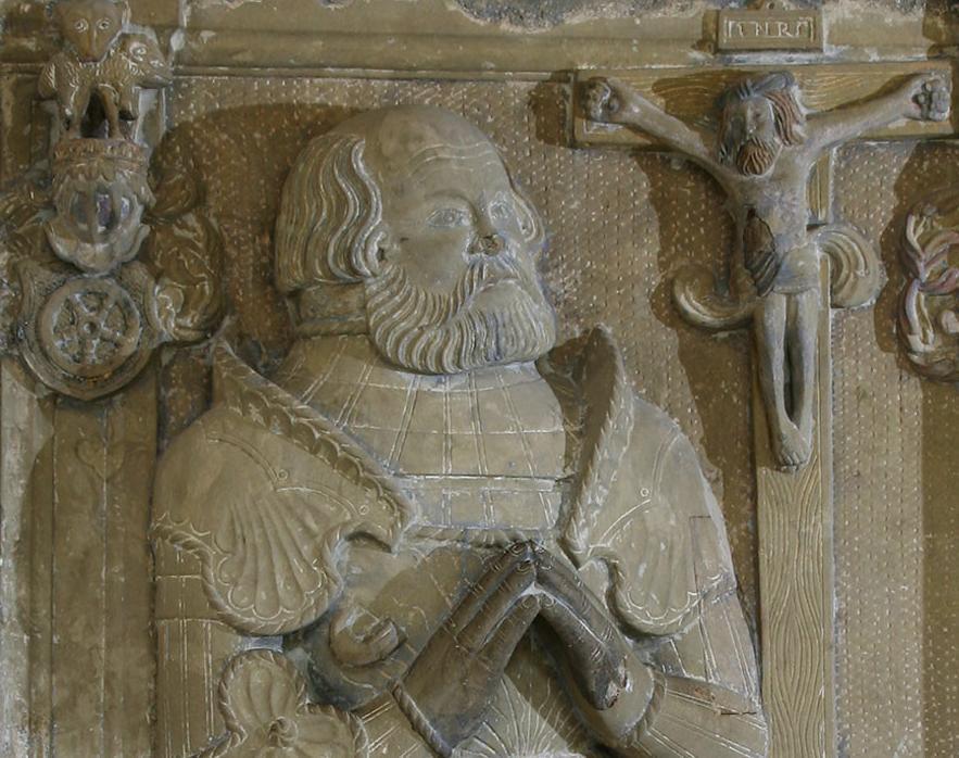 Ausschnitt Grabmal von Ritter Götz im Kloster Schöntal; Foto: Foto Besserer