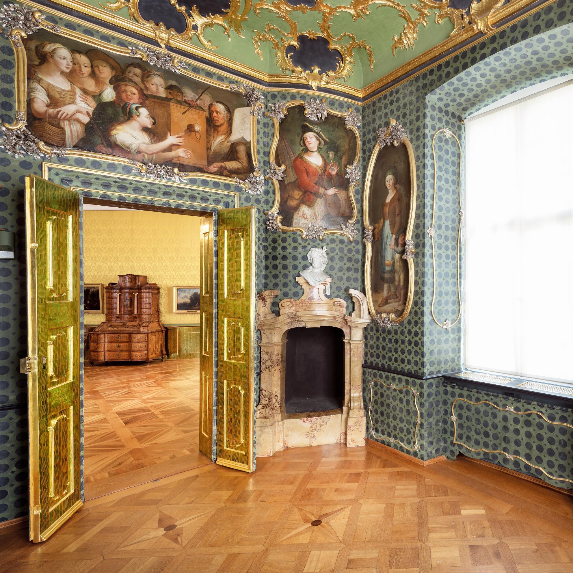 Neues Schloss Tettnang, Vagantenkabinett; Foto: Staatliche Schlösser und Gärten Baden-Württemberg, Günther Bayerl