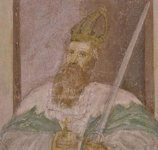 Kaiser Friedrich Barbarossa, Detail in der Klosterkirche Lorch; Foto: Staatliche Schlösser und Gärten Baden-Württemberg, Joachim Feist